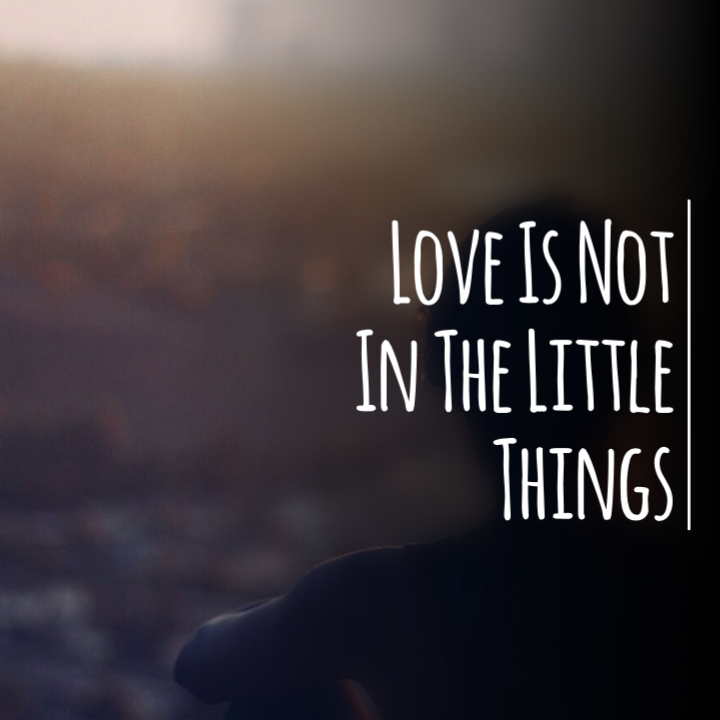 Love is Not In The Little Things